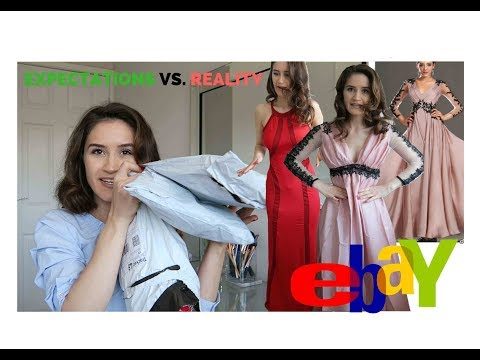 TRYING ON £7 EBAY PROM DRESSES?! Online Shopping FAIL!