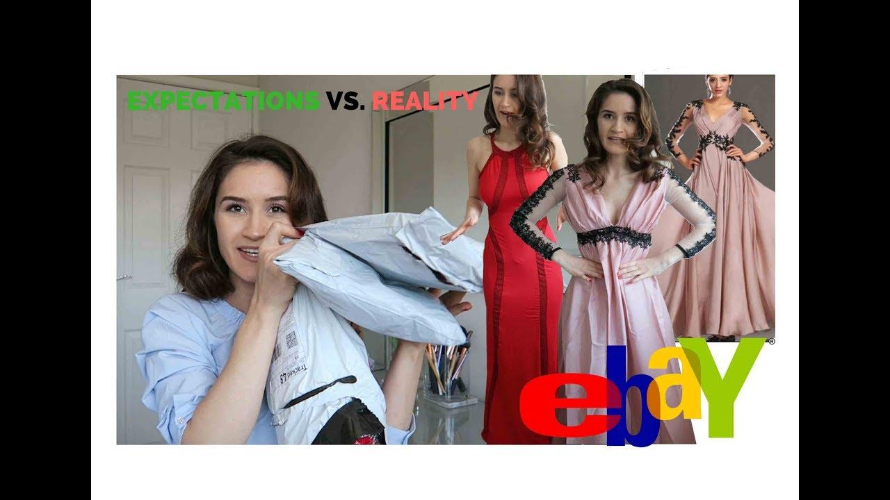 2d01c47179172b TRYING ON £7 EBAY PROM DRESSES ! Online Shopping FAIL! - YouTube