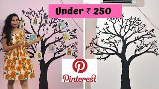 How to PAINT a WALL step by step on a BUDGET | Pinterest theme FAMILY TREE  under ₹ 250