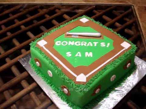 how to make a baseball cake