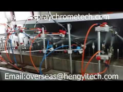 full spray chrome plating /spraying metallizing line,plating vacuum metallizing coating equipment