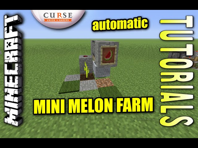 Minecraft Ps4 Mini Automatic Melon Farm How To Tutorial Ps3