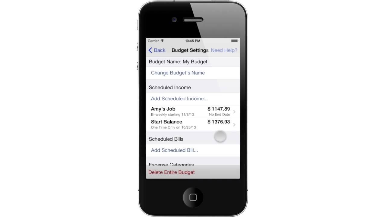 blue noggin iphone app tutorial budget creation youtube