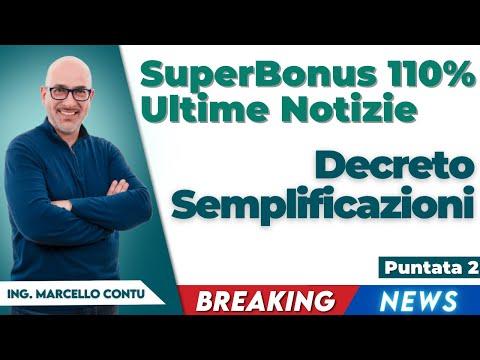 Decreto Semplificazioni - Superbonus 110 Ultime Notizie Puntata 2