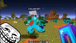 TROLLANDO PLAYERS #1: ESSE JOGADOR GANHOU ITENS MUITO FORTES! Minecraft