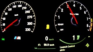 bmw m4 launch control acceleration onboard outside sound f82 m3 4er