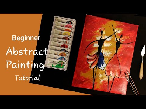 Easy Modern Abstract Painting For Beginners Using Palette Knife And Acrylic Paint