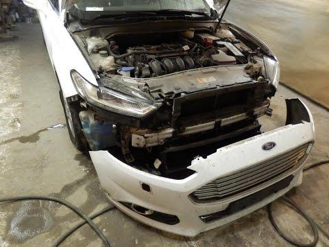 Ford Mondeo 5 Ремонт переднего бампера С Новым Годом
