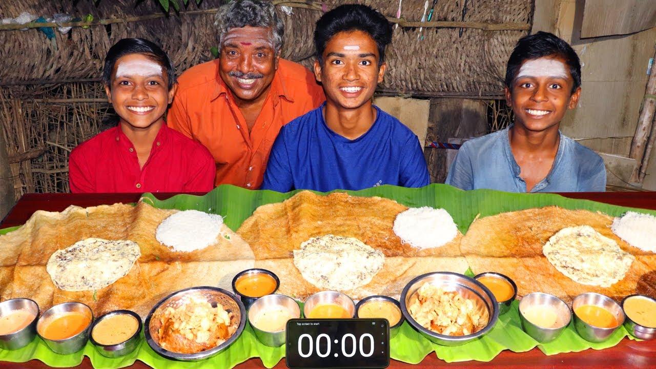3 BIG DOSA EATING CHALLENGE   KAALAN OMELETTE IDIYAPPAM EATING CHALLENGE   STREET FOOD CHALLENGE
