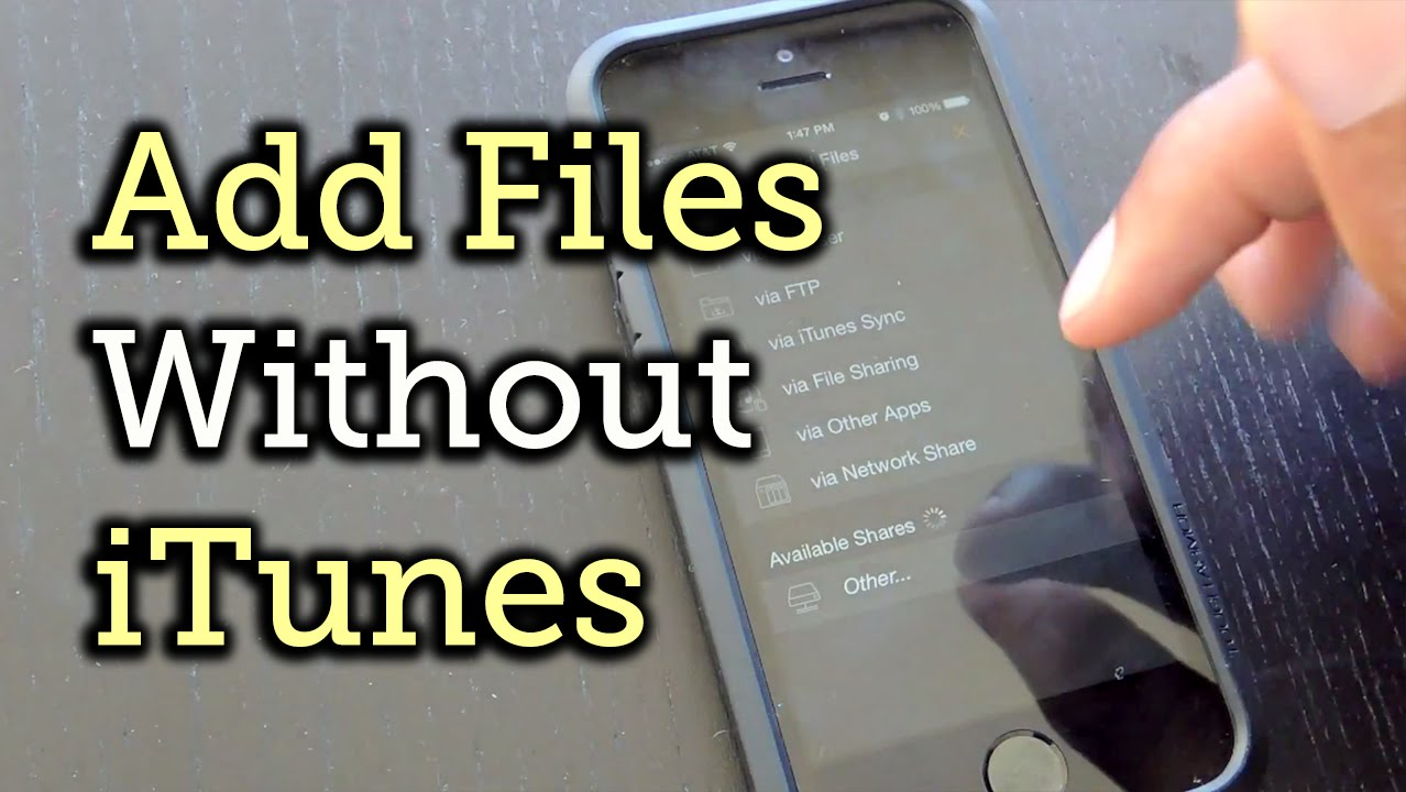How to Download Music & Video Files onto Your iPhone Without