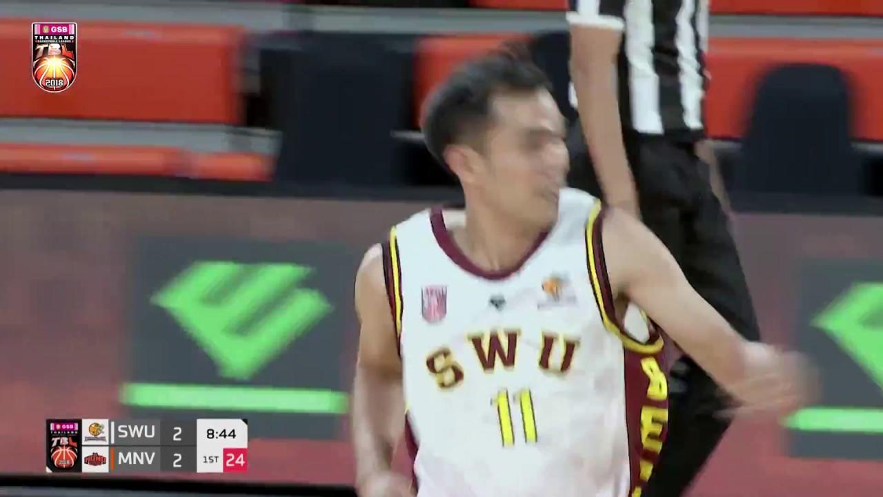 Highlight บาสเกตบอล GSB TBL2018   SWU Basketball Club VS Mono Vampire 2 June 2018