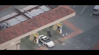 High speed police chase in LA with a motorcycle