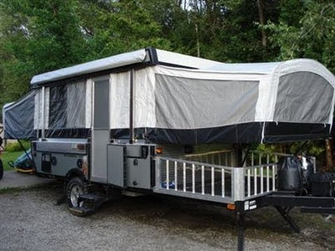 & 2009 Fleetwood Evolution E3 tent camper toy hauler - YouTube