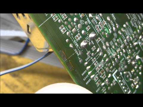 Repairing a Minor Crack On A Circuit Board PCB. Fix Repair Printed Circuit Board