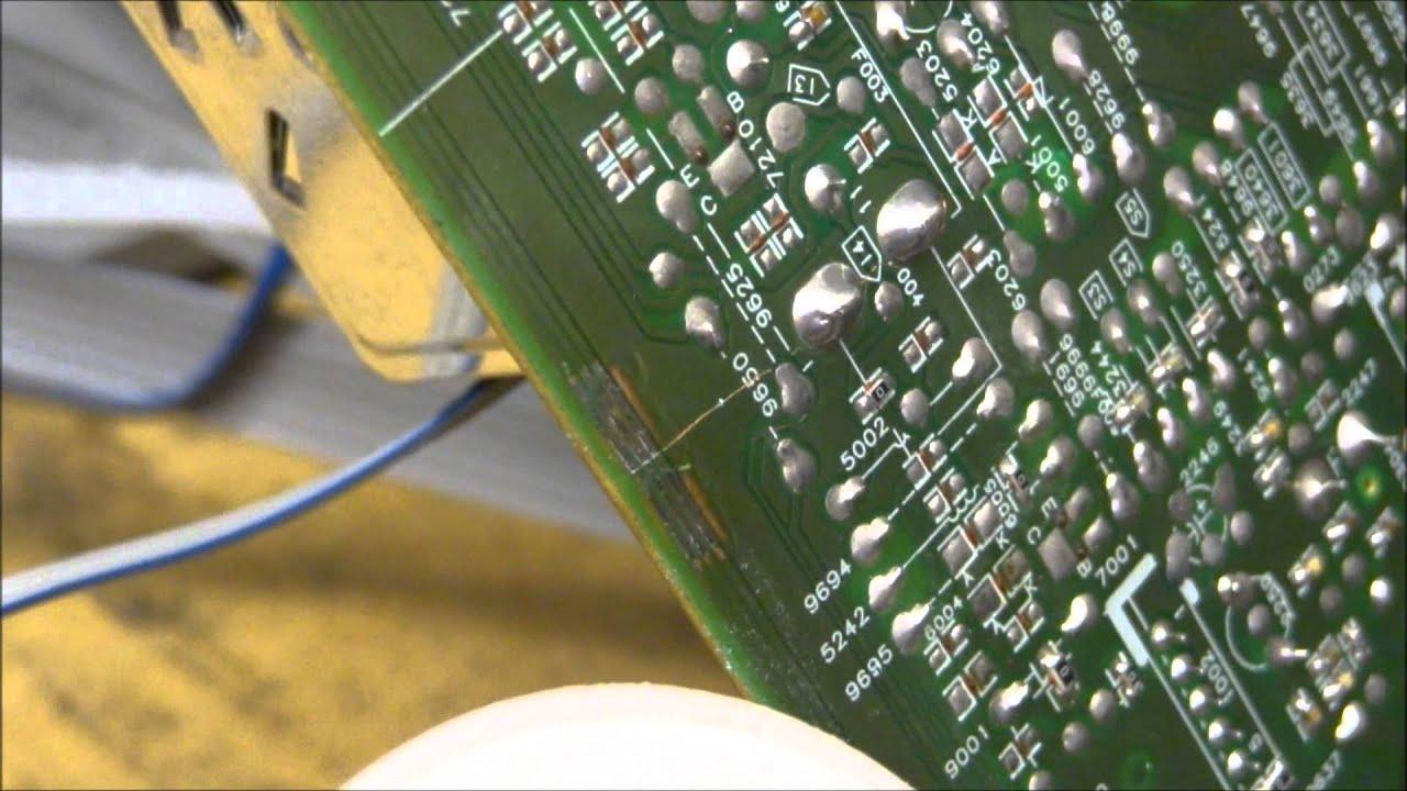 Repairing A Minor Crack On A Circuit Board Pcb Fix Repair