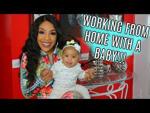 YOUTUBE IS MY JOB!! | WORKING FROM HOME WITH A BABY!! | PART 2