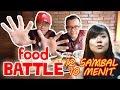 Busyet Baru Kali Ini Makan Bebek Kaleyo Dengan 12 Sambal Dalam 10 menit - Food Battle Elisabeth Wang