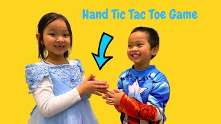 Hand Tic Tac Toe Game - Hand Clapping Game - Princess vs Captain America - Super EA