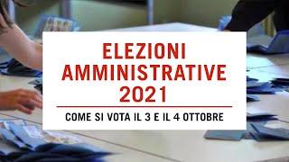 Amministrative 2021: come si vota tra norme anti-Covid, preferenze disgiunte e ballottaggi