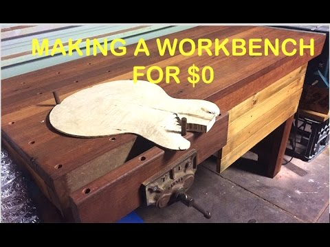 Make: A Workbench from Completely Recycled Wood