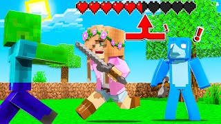 MINECRAFT BUT... we SHARE one HEALTH BAR !! | Little Kelly