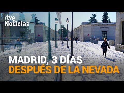 Así está la ciudad de MADRID tras la histórica nevada de la borrasca 'FILOMENA' | RTVE Noticias