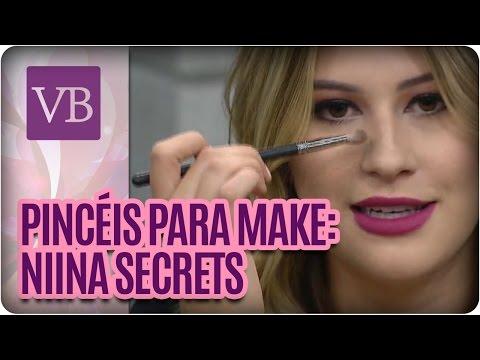 Pincéis para maquiagem com Niina Secrets - Manual da Beleza - Você Bonita  (19/05/16)