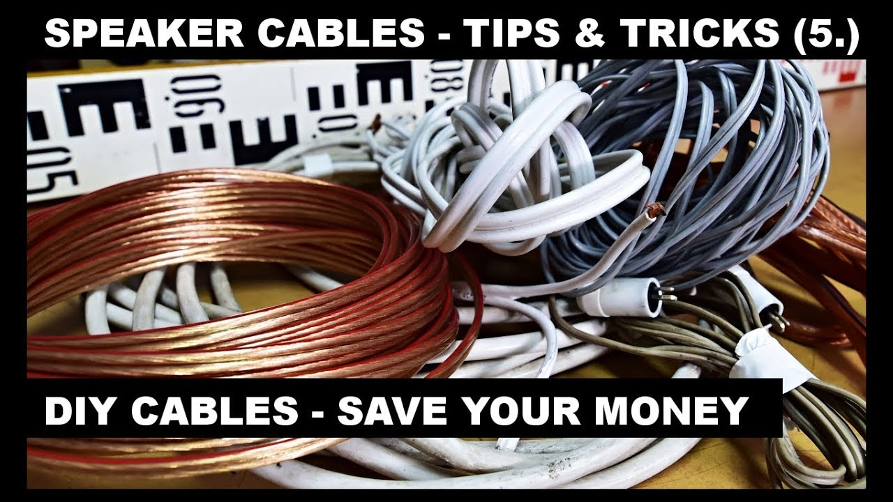 How To Make Diy Speaker Cables