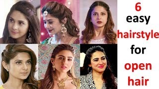 6 easy hairstyle for open hair || hairstyle for girls || party hairstyle || wedding guest hairstyle