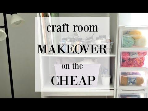 Craft Room Makeover on the Cheap