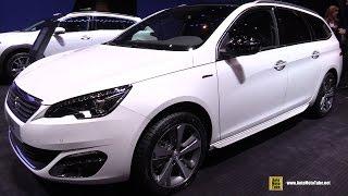 Video 2015 Peugeot 308 SW GT Line PureTech 130hp - Exterior, Interior Walkaround - 2015 Geneva Motor Show download MP3, 3GP, MP4, WEBM, AVI, FLV Juli 2018