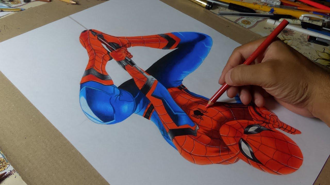 Desenhando Homem Aranha(De Volta Ao Lar)