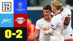Leipzigs Höhenflug hält an: Zenit – Leipzig 0:2 | UEFA Champions League | DAZN Highlights