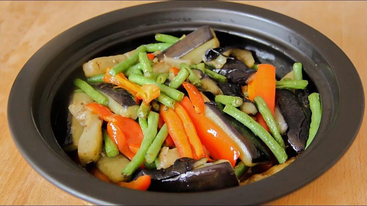 【茄子豆角煲】中國料理~茄子豆角煲的做法 - YouTube