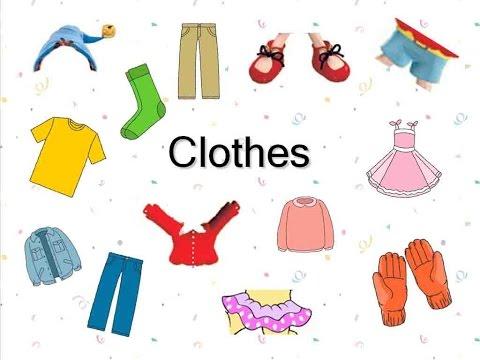Английский детям. Одежда на английском языке. English for kids. Learn clothes.