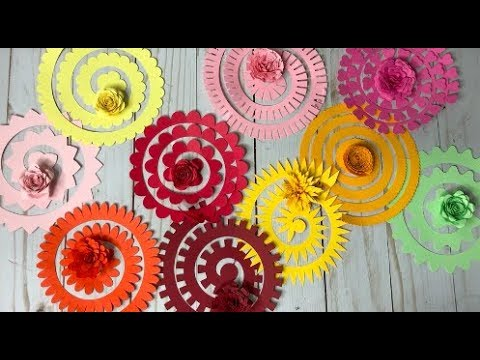 Cricut Design Space 3D Paper Flowers Tutorial