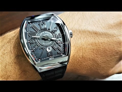 Franck Muller Vanguard Review Unboxing V 45 SC DT BR Grey Dial