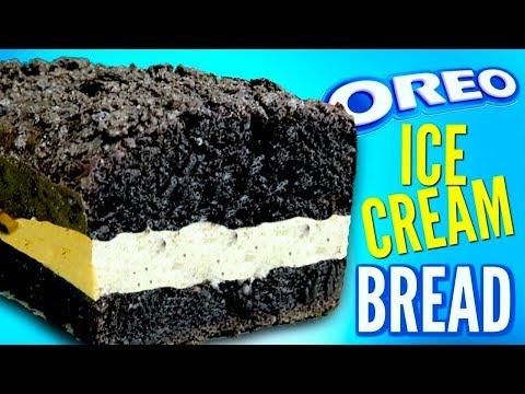OREO BREAD - How To Turn Ice Cream Into Cookie Bread DIY