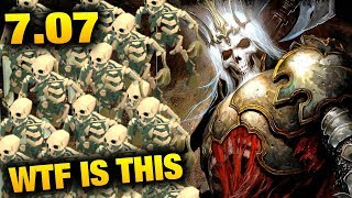 Wraith King with Skeleton king in 7.07 Dota 2 Dueling Fates Update - Wagamama