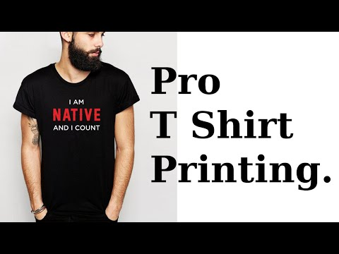 T Shirt Printing on Black Shirts and Hoodies for CA Native Project.