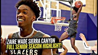 Zaire Wade Sierra Canyon Full Senior Season Highlights! Where Should Zaire Go To College?