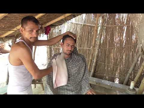 Power Full Head Face And Back Massage With Fingers Cracking By Indian Village Street Barber//asmr