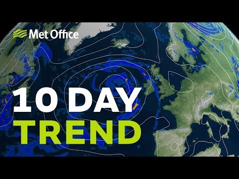 10 Day Trend - Showers Never Too Far Away But A Spell Of Hot Weather Likely In South 31/07/19