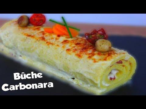 recette-de-bûche-salé-à-la-carbonara-!