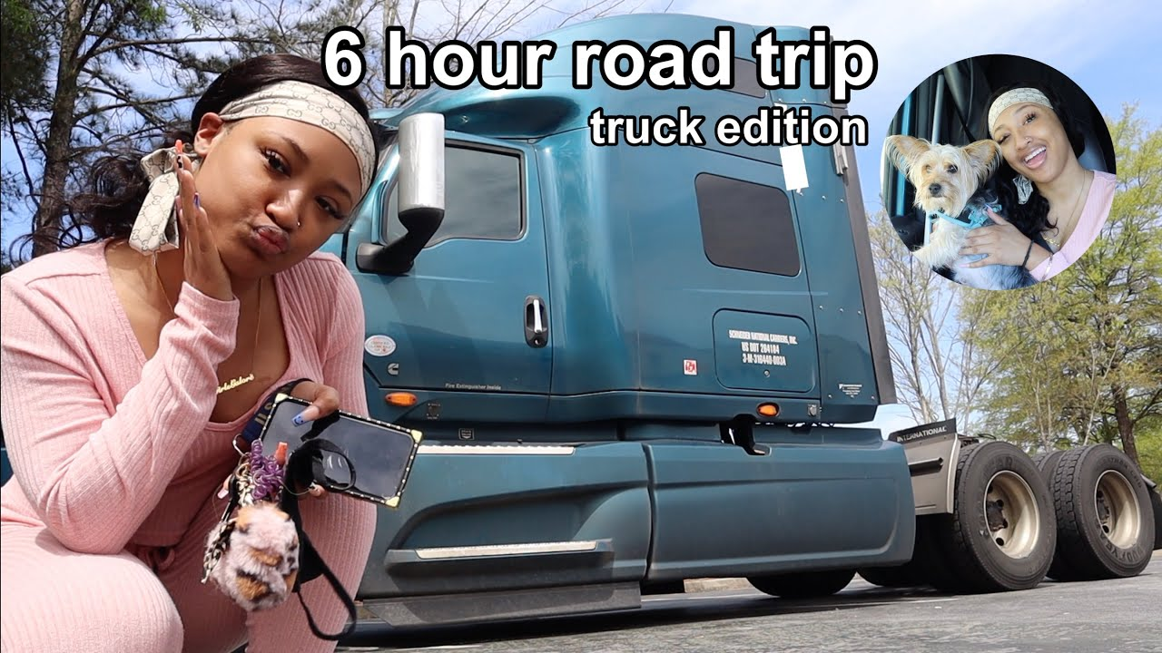 vlog: taking a 6 hour last minute ROAD TRIP... but in a 18 wheel TRUCK! ft. JuliaHair
