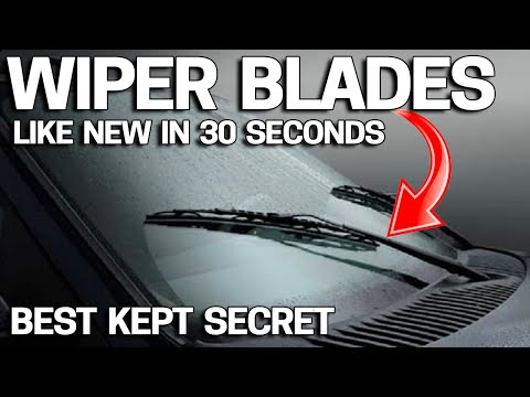 Tim Palmer - How To Make Windshield Wipers Like New In 30 Seconds