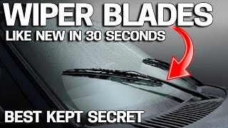 How to Make Windshield Wiper Blades Like NEW in 30 Seconds