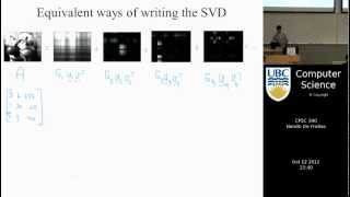 undergraduate machine learning 15: Singular Value Decomposition - SVD