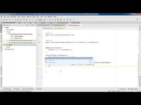 Android Login With SQLite Database Tutorial - Android Studio Tutorial For Beginners