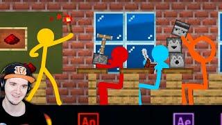 АНИМАЦИЯ vs МАЙНКРАФТ - РЕДСТОУН (Красная Пыль) ► Animation vs. Minecraft Shorts Ep 15    Реакция